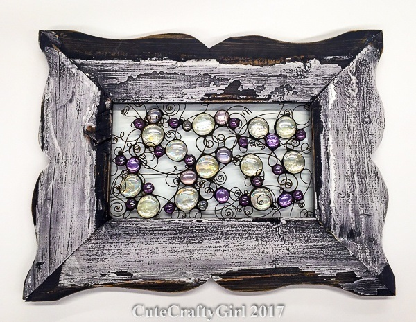 CuteCraftyGirl Distressed Frame & Nugget Whimsy in Lavender and Iridescent